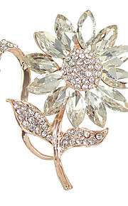 elegant rhinestone blomst bryllupsfest brocher