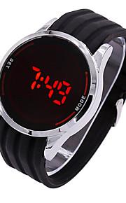 יוניסקס שעוני ספורט דיגיטלי LED / מסך מגע סיליקוןריצה להקה מזל שחור מותג