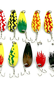 4.3cm 6g/pc Ten-color Sequin Horse's Mouth Lures Lure Metal Hard Bait Fishing Bait Fishing Tackle 10PC/Set