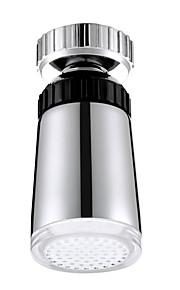 temperaturkontroll tre farger 360 graders roterende LED tappekran (kobber galvanisering)
