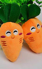 Dog Toy Pet Toys Chew Toy / Plush Toy Squeak / Squeaking / Cartoon Carrot Orange