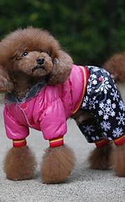 Cães Casacos / Macacão Púrpura / Preto / Rosa Roupas para Cães Inverno / Primavera/Outono RiscasDa Moda / Mantenha Quente / Dia Das