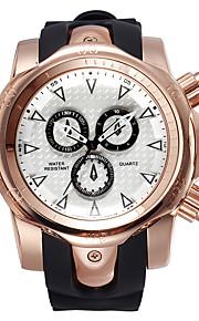 Masculino Relógio Esportivo / Relógio de Moda Quartz Impermeável Silicone Banda Casual Preta marca