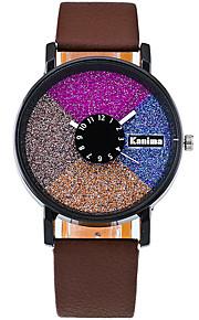 Mulheres Relógio de Moda / Relógio de Pulso Quartz / PU Banda Legal / Casual Preta / Branco / Vermelho / Marrom / Verde marca