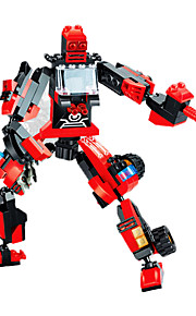 Building Blocks For Gift  / Robot Education Toys For Boys 205pcs Plastic Red / Black