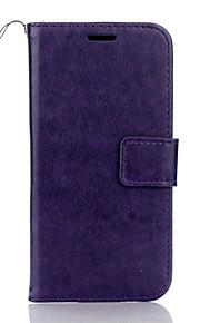 Full Body Korttipaikka / Wallet / telineellä Yhtenäinen väri Tekonahka Kova Tapauksessa kattaa Samsung GalaxyJ5 (2016) / J3 (2016) / J3 /