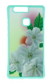 Capa traseira Estampa Flor TPU Macio Case Capa Para Huawei Huawei P9 / Huawei P9 Lite / Huawei P9 Plus