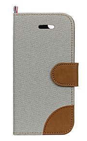 Hel kropp Korthållare Solid Färg Textil Hård Fallet täcker för Apple iPhone 7 Plus / iPhone 7 / iPhone 6s Plus/6 Plus / iPhone 6s/6