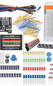 Starter Beginner Kit Breadboard Cable Resistor Capacitor LED Potentiometer for Arduino Learning Kit