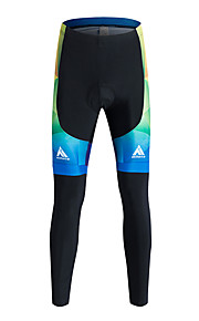 Sports Cycling Pants Men'sBreathable / Thermal / Warm / Quick Dry / Windproof / Fleece Lining / High Breathability (>15,001g) / 3D Pad /