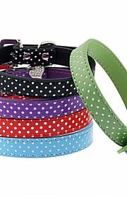 Cat / Dog Collar Reflective / Adjustable/Retractable / Cosplay / Running / Hands free / Casual Polka Dots / RhinestoneRed / Black / Green