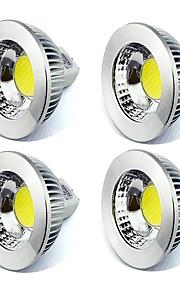 5W GU5.3(MR16) LED-spotpærer MR16 1 COB 450 lm Varm hvit / Kjølig hvit Dekorativ V 4 stk.