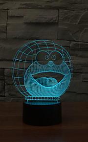 Doraemon kontakt dimming 3D LED nattlys 7colorful dekorasjon atmosfære lampe nyhet belysning jul lys
