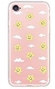 iPhone 7 7Plus Cartoon Tile Pattern TPU Ultra-thin Translucent Soft Back Cover for iPhone 6s 6 Plus 5s 5 5E