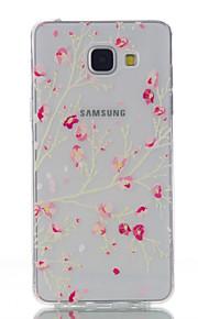 ל אולטרה דק / שקוף / תבנית מגן כיסוי אחורי מגן פרח רך TPU Samsung A5(2016)