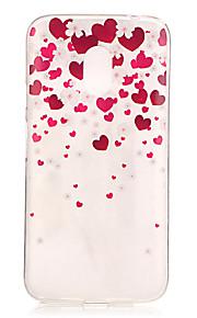 För IMD / Transparent / Läderplastik fodral Skal fodral Hjärta Mjukt TPU Motorola Moto G4 Play