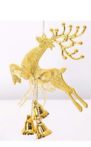 20 cm Santa älg jul klockor hänga juldekorationer Juldekorationer fönsterdekoration part rekvisita