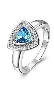 Ringe Bryllup / Party / Daglig / Afslappet Smykker Plastik Dame Ring 1pc,7 / 8 Gylden / Sølv / Rose Guld