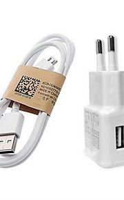 fast Charge Home Charger / przenośna ładowarka Wtyczka EU 1 port USB z kablem Na Telefon Komórkowy(5V , 1A)