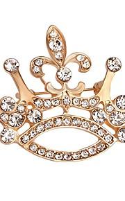 hot salg skinnende krystal krone broche for kvinder