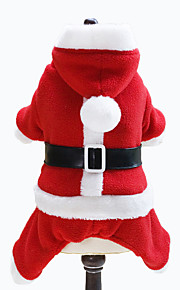 Dog Costume / Hoodie Red Dog Clothes Winter Solid Christmas Lovoyager