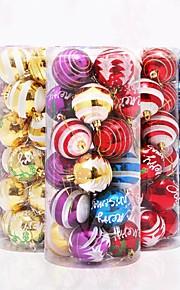 nya jul dekoration hantverk leveranser jul bågar 8cm viskositet lyx jul boll 24pcs 6cm