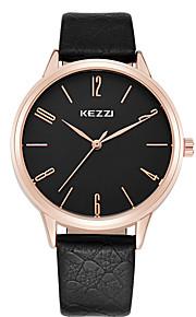 KEZZI Masculino Mulheres Casal Relógio de Moda Relógio de Pulso Relógio Casual Quartzo / Couro Banda Legal Casual Preta Branco Marrom