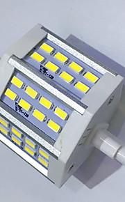 7 R7S LED-kornpærer T 24LED SMD 5730 680LM-800LM lm Varm hvit / Kjølig hvit Dekorativ AC 85-265 V 1 stk.