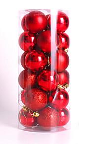 moderna julen träd xmas bollar dekorationer grannlåt fest bröllop prydnad 24pcs 4cm