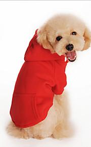 Cani Felpe con cappuccio Rosso / Arancione / Nero / Grigio Abbigliamento per cani Inverno Tinta unita Di tendenza / Casual / Sportivo /