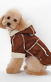 Cani Felpe con cappuccio Rosso / Marrone / Caffè Abbigliamento per cani Inverno Britsh Sportivo / Di tendenza / Casual /