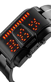 Masculino Relógio de Moda Único Criativo relógio Relógio de Pulso Digital LED Calendário Impermeável Lega Banda Legal Preta Prata marca