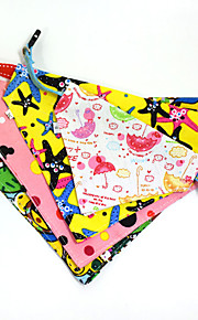 Dog Collar Bandanas Cartoon Multicolor Fabric