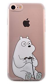 Para Capinha iPhone 7 / Capinha iPhone 6 / Capinha iPhone 5 Transparente / Estampada Capinha Capa Traseira Capinha Desenho Macia TPU Apple