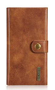 För Plånbok / Korthållare / Origami / Magnet fodral Heltäckande fodral Enfärgat Hårt Äkta läder Samsung S7 edge / S7