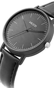 Mulheres Relógio de Pulso Quartz / Couro Banda Legal / Casual Preta / Branco / Azul / Marrom marca