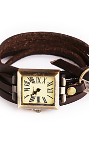 Mulheres Relógio de Moda / Relógio de Pulso / Bracele Relógio Quartz / Couro Banda Vintage / Boêmio / Bracelete / Legal / Casual Ivory