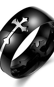 Ringe Halloween / Daglig / Afslappet / Sport Smykker Rustfrit Stål Herre Ring 1pc,7 / 8 / 9 / 10 Sort