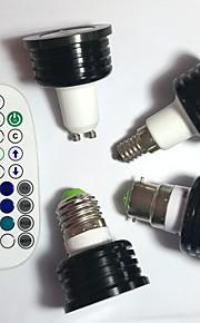 4W E14 / GU10 / B22 / E26/E27 LEDスポットライト MR16 1pcs ハイパワーLED 400 lm RGB 明るさ調整 / 音検知 / リモコン操作 / 装飾用 V 1個
