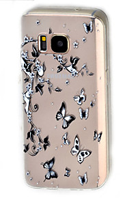 For Samsung Galaxy S7 edge  S7  Butterfly Pattern Case Back Cover Case Soft TPU