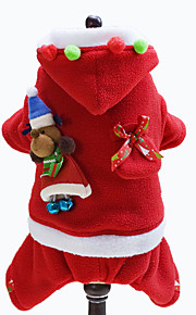 Dog Hoodie Red Dog Clothes Winter Solid Christmas Lovoyager