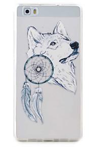 Para Transparente / Diseños Funda Cubierta Trasera Funda Animal Suave TPU Huawei Huawei P9 Lite / Huawei P8 Lite