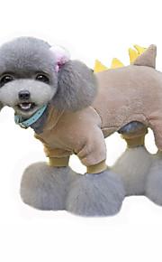 Perros Disfraces / Abrigos / Saco y Capucha Rojo / Verde / Marrón Ropa para Perro Invierno / Primavera/Otoño CaricaturasAdorable /