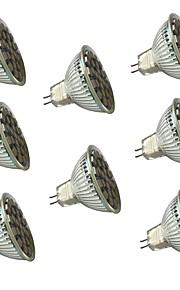 5W GU5.3(MR16) LEDスポットライト MR16 27 SMD 5050 450 lm 温白色 / クールホワイト 明るさ調整 / 装飾用 V 8枚