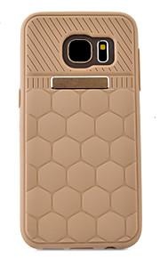 ל מובלט מגן כיסוי אחורי מגן צבע אחיד רך TPU Samsung S7 edge / S7