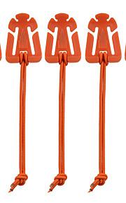 FURA Outdoor Nylon Winder Fixing Buckles with Elastic Rope - Black / Orange / Green / Khaki(5 PCS)