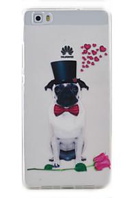 Para Transparente / Diseños Funda Cubierta Trasera Funda Perro Suave TPU Huawei Huawei P9 Lite / Huawei P8 Lite