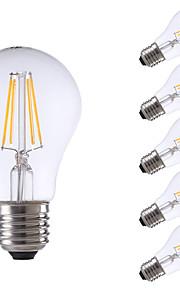 4W E26/E27 LED-gloeilampen A60 (A19) 4 COB 550/400 lm Warm wit Koel wit Dimbaar AC 220-240 V 6 stuks