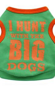 Gatos / Cães Fantasias / Camiseta / Colete Laranja / Amarelo / Verde / Preto Roupas para Cães Inverno / Verão / Primavera/OutonoCarta e