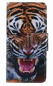 For Samsung Galaxy J7 prime J5 prime Tiger Painting PU Phone Case